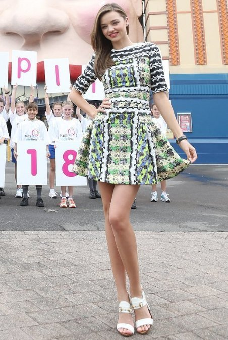 Miranda Kerr Shows Hot Legs in Peter Pilotto Dress | Fashion Fame | wedding and event | Scoop.it