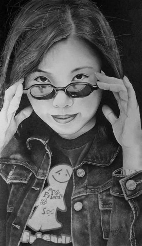 50 Ultra Realistic Female Portrait Drawings | Drawing | Scoop.it