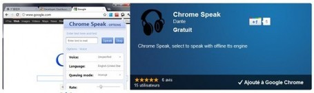 Une extension pour se faire faire la lecture par Chrome, Chrome Speak | Ballajack | formation 2.0 | Scoop.it