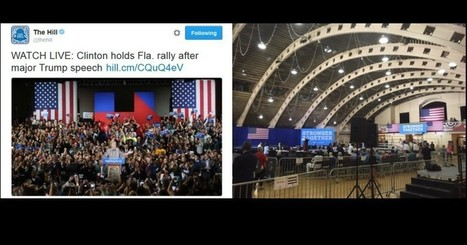 Media Photoshops Hillary Crowd to Make Her Audience Look Bigger » Alex Jones' Infowars: There's a war on for your mind! | Xposing Government Corruption in all it's forms | Scoop.it
