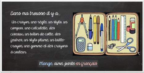 Mange, aime, parle en français.: La salle de classe et les fournitures scolaires | Parle en français! | Scoop.it