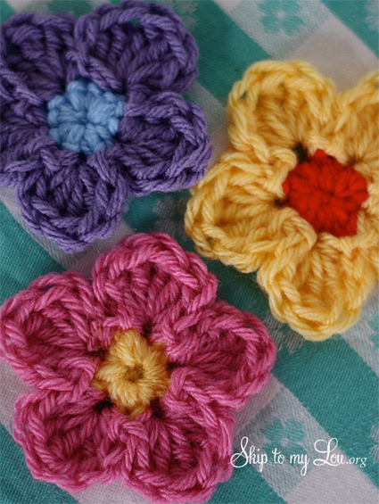How to crochet a flower | Skip To My Lou | Crochet | Scoop.it