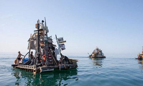 Sublime épopée : un collectif d'artistes navigue sur les mers d'Europe dans des maisons flottantes faites de déchets | Société durable | Scoop.it