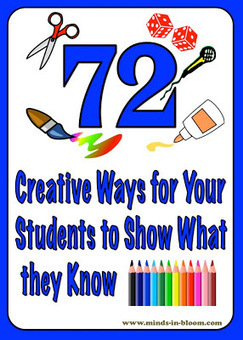 72 Creative Ways for Students to Show What They Know | Minds in Bloom | Uppdrag : Skolbibliotek | Scoop.it