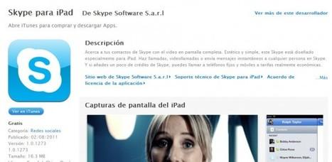 Ya disponible Skype para iPad | Aplicaciones y Herramientas . Software de Diseño | Scoop.it