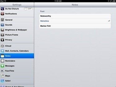 iPad Basics: How to Change the Font in the Notes App | iPads in Education | Scoop.it