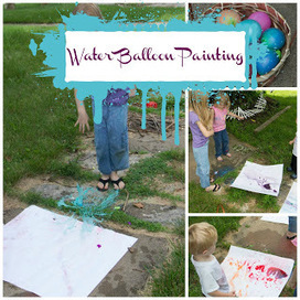 Life with Moore Babies: Water Balloon Painting | Learn through Play - pre-K | Scoop.it