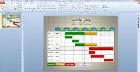 Simple Gantt Template for PowerPoint | PowerPoint Presentation | gantt | Scoop.it