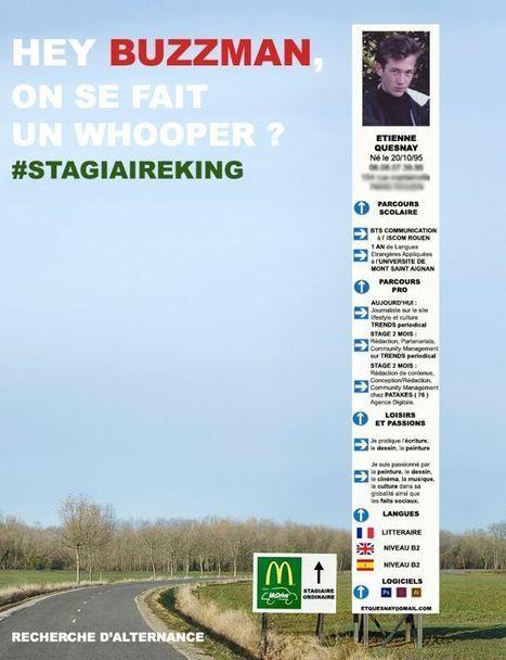 Quand un étudiant profite de la guerre entre McDo et Burger King pour postuler ! - Il était une pub | Web & Marketing | Scoop.it