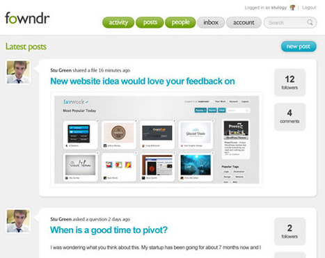 Fowndr Offers Private Social Network for Start-Ups | Social media news | Scoop.it