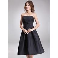 [US$ 103.99] Princesový Bez ramínek Po kolena Taffeta Šaty pro družičku S Volán (007001815)   Fashion   Scoop.it