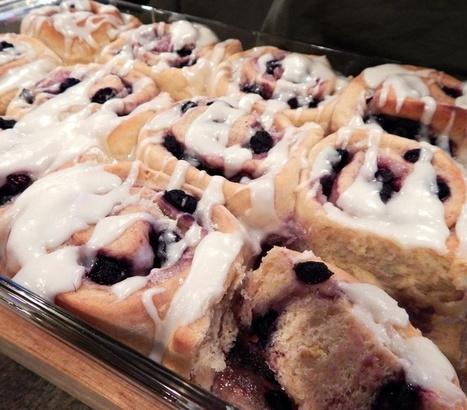 Lemon Blueberry Breakfast Buns with Zesty Icing Recipe | My Vegan recipes | Scoop.it