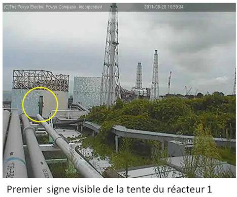 Premier signe visible de l'installation de la tente du réacteur #1 | scoop.it | Japon : séisme, tsunami & conséquences | Scoop.it