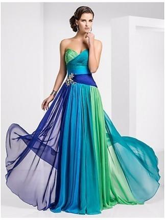 Sweetheart Sheath/Column Floor-length Chiffon Evening Dresses - by OKDress UK | Fashion & Beautiful Dresses | Scoop.it