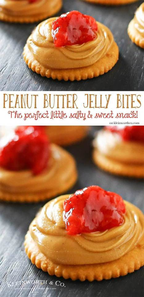 Peanut Butter Jelly Bites - Kleinworth & Co | Passion for Cooking | Scoop.it