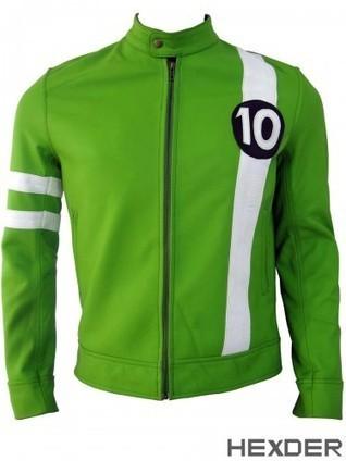 Ben 10 Jacket | Green Leather Alien Swarm Costume | Hexder | Scoop.it