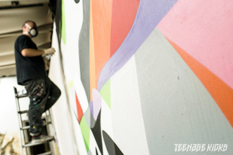 Street Art - Teenage Kicks festival - Rennes, France | Ateliers créativité (AFB) | Scoop.it