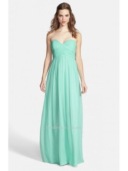 A Line Sweetheart Chiffon Ruched Long Bridesmaid DressSKU: BM000185 - Cmdress.co.nz | Press Release from dressmebridal.co.uk | Scoop.it