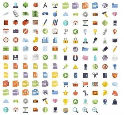 Flat icons | Design ressources | Scoop.it