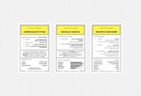 Un CV sur descartes de Monopoly pour trouver un stage - Mode(s) d'emploi | les candidatures originales | Scoop.it