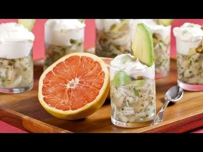 Fresh Crab Aspic with Grapefruit Mousse Recipe | French Cuisine | Scoop.it