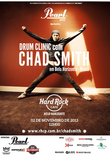 Drum clinic com Chad Smith em Belo Horizonte - RHCP BRASIL ... | Música na WEB | Scoop.it