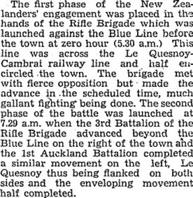 Papers Past — Evening Post — 4 November 1935 — LE QUESNOY | World war 2 | Scoop.it