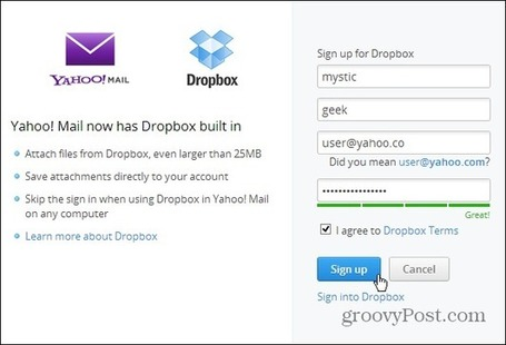 Send Large Files in Yahoo Mail with Dropbox | formation 2.0 | Scoop.it