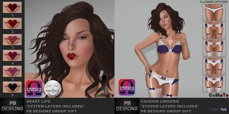 Heart Lips and Passion Lingerie Group Gift by PB Designs | Teleport Hub - Second Life Freebies | Second Life Freebies | Scoop.it