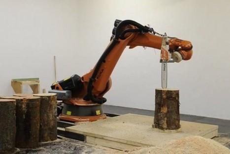 Un bras robotisé qui sculpte le bois avec avec une tronçonneuse | Semageek | Développement, domotique, électronique et geekerie | Scoop.it