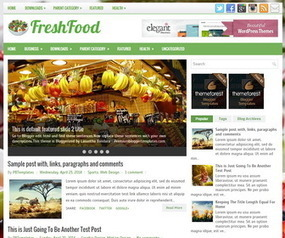 FreshFood Blogger Template | Blogger Templates | Scoop.it