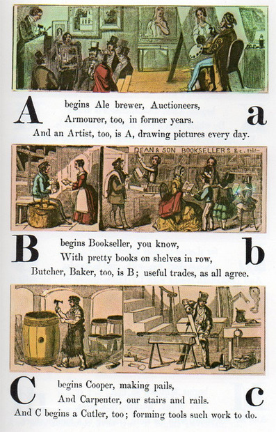 Occupational Alphabet, 1850 | DictioNet | Scoop.it