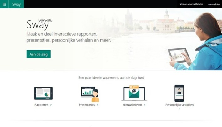 Edu-Curator: Microsoft Sway: Gratis online verhalen presenteren en flitsende presentaties maken | Educatief Internet - Gespot op 't Web | Scoop.it