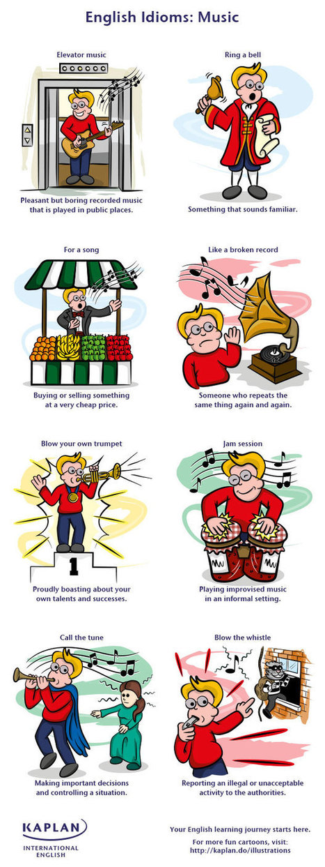 10 Music Idioms for you to enjoy | English with a Twist | Infographics for English class | Scoop.it