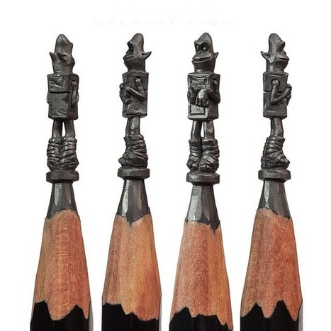 Miniature Pencil Lead Sculptures By Salavat Fidai   Inspired By Design   Scoop.it