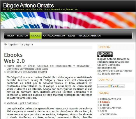 Blog de Antonio Omatos » Ebooks | IKT-TIC | Scoop.it