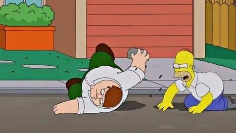 Fotogramas del crossover entre 'Los Simpson' y 'Padre de familia', la imagen de la semana | Cinema i Tv series | Scoop.it