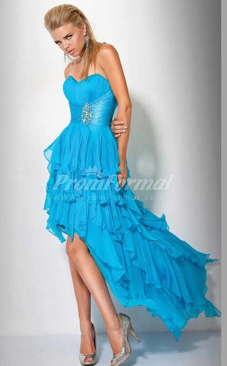 Luxurious Chiffon Sweetheart A-line Asymmetrical Evening Dress(PRJT04-0564) - promformal.co.uk | Prom & Formal | Scoop.it