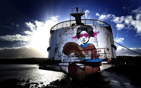 Streetart: Abandoned Ship turns into floating Graffiti Gallery (10 Pictures + Clip) > Design und so, Film-/ Fotokunst, Paintings, Streetstyle, urban art > Fin Dac, graffiti, public art, ship, stree... | exhibit | Scoop.it