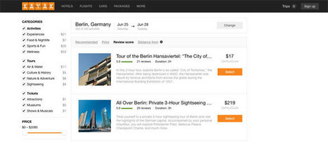Kayak adds tours and activities to its travel metasearch | Tourisme Tendances | Scoop.it