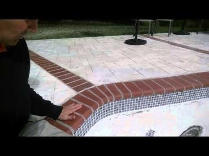 Concrete Pool Renovation Coping and Tile Details   Browning Pools & Spas   Scoop.it