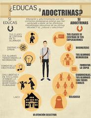 La atención selectiva: INFOGRAFÍA: ¿EDUCAS O ADOCTRINAS? | EDUCACIÓN Y PEDAGOGÍA | Scoop.it