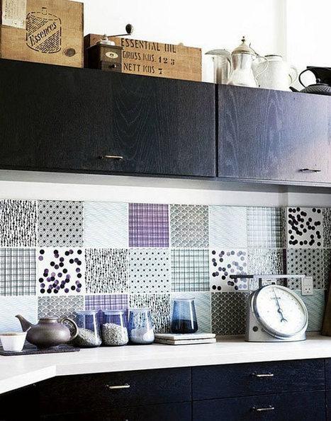 12 Creative Kitchen Tile Backsplash Ideas - Design Milk | A. Perry Design Lounge | Scoop.it