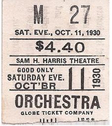 Primary Document #2 Movie Ticket Stub | Cinema of the 1930s | Scoop.it