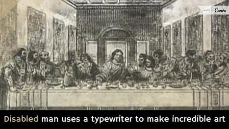 Disabled man uses a typewriter to make incredible art [video] - Holy Kaw! | ASCII Art | Scoop.it