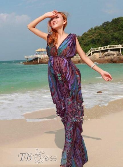 Stylish Bohemian Sleeveless Maxi Dress | beauty&fashion clothing | Scoop.it