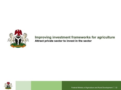 With N6bn investment, agriculture waits for a rise @FmardNg @akin_adesina #Nigeria #Agriculturaltransformationagenga | Agriculture, Climate & Food security | Scoop.it