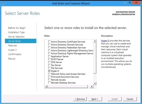 Installing the Hyper-V Role on Windows Server 8 | Windows Infrastructure | Scoop.it