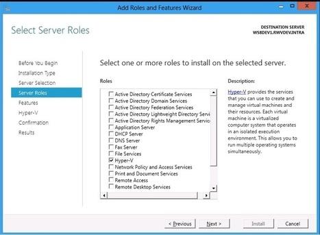 Installing the Hyper-V Role on Windows Server 8 | Windows Infrastructure | Scoop.it