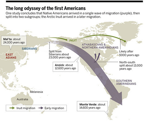 Ameriques : une vague de migration 23 000 ans BP | Aux origines | Scoop.it